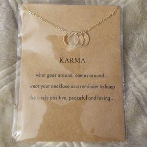 Karma Gold Fashioned necklace